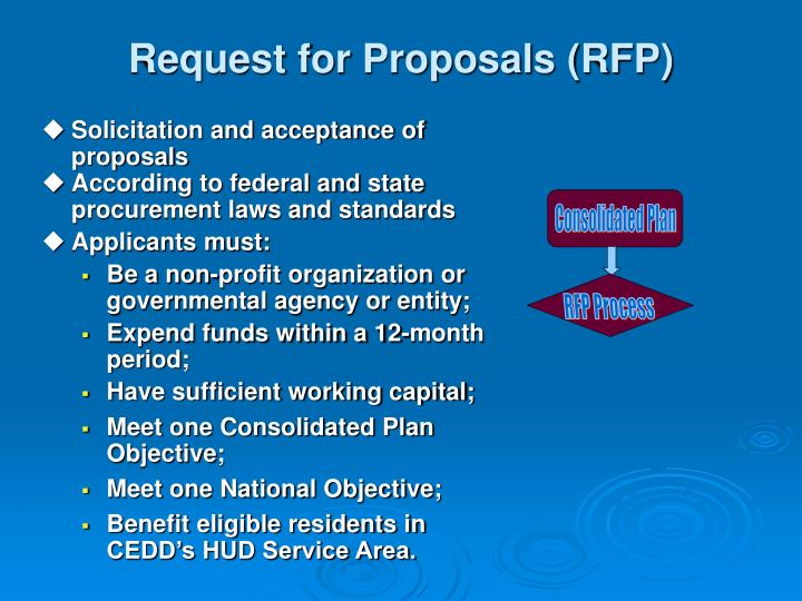 Request for Proposals (RFP)