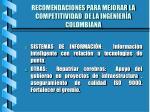 recomendaciones para mejorar la competitividad de la ingenier a colombiana1