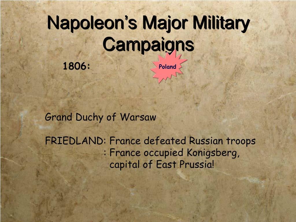 Napoleon's Major Military Campaigns