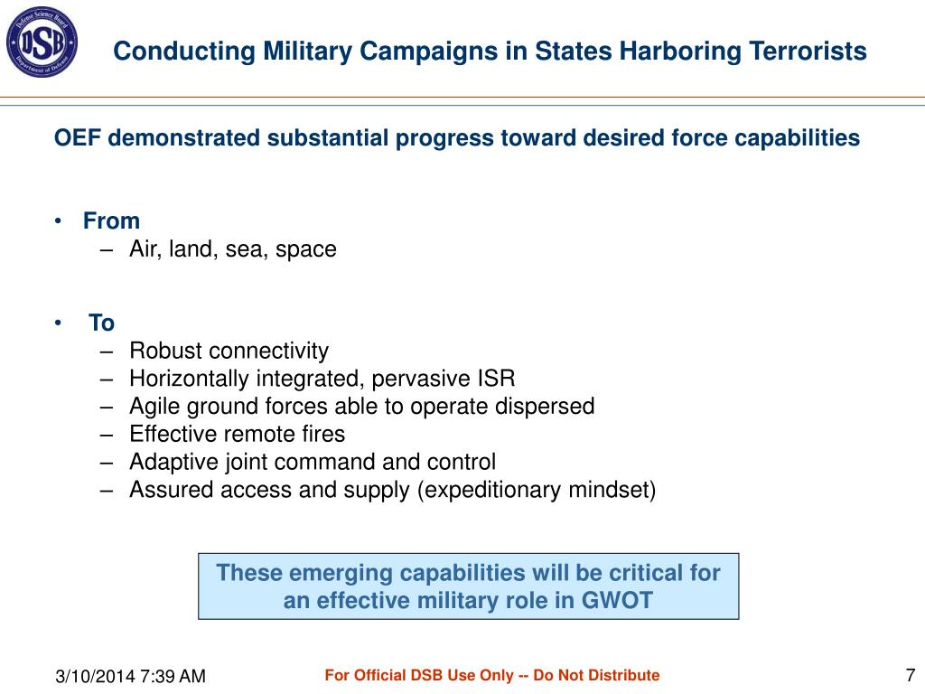 Conducting Military Campaigns in States Harboring Terrorists
