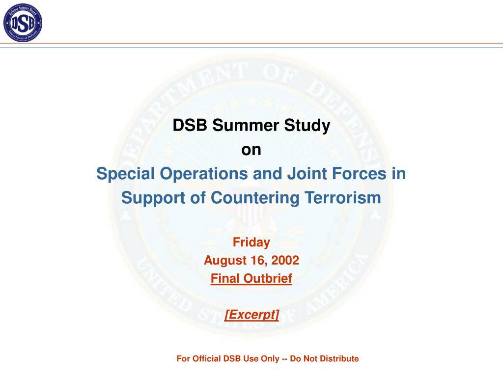 DSB Summer Study