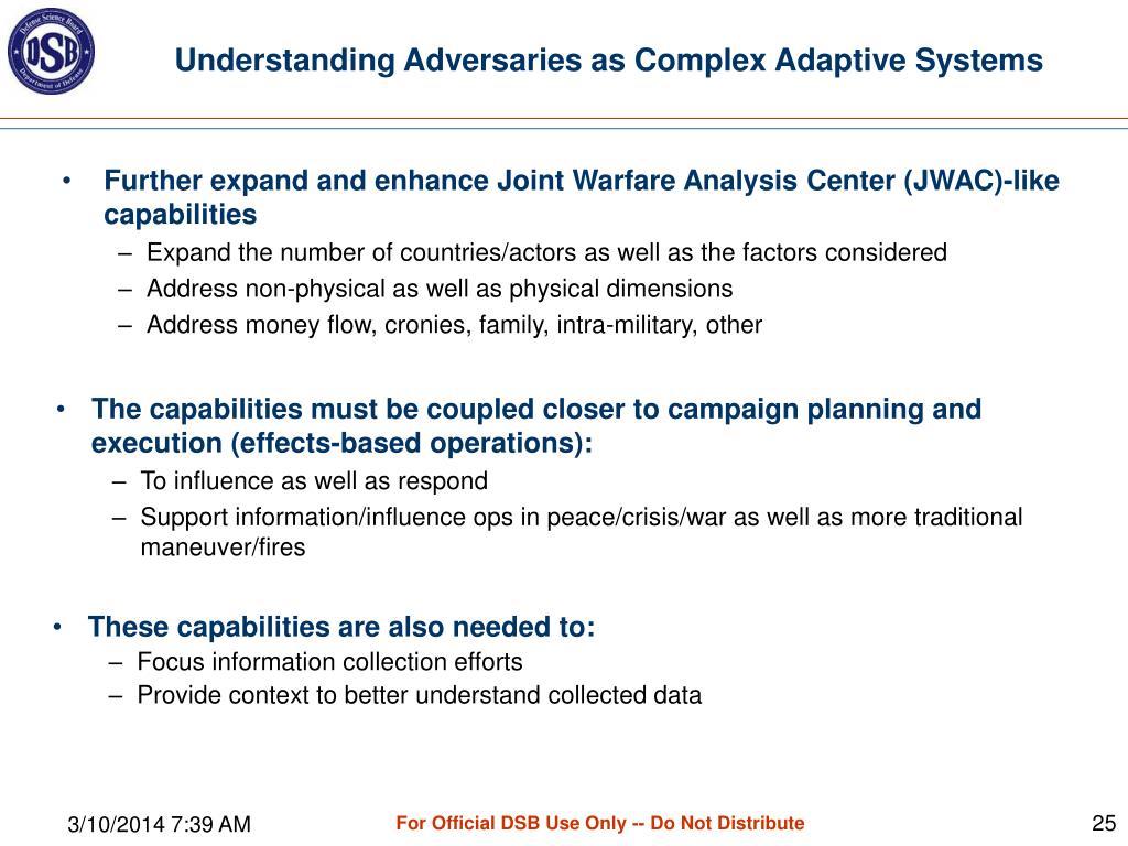 Understanding Adversaries as Complex Adaptive Systems
