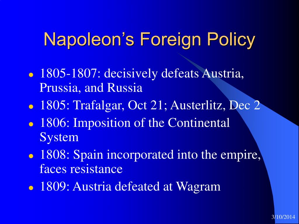 Napoleon's Foreign Policy