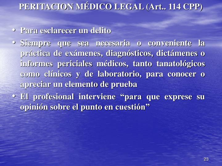 PERITACION MÉDICO LEGAL