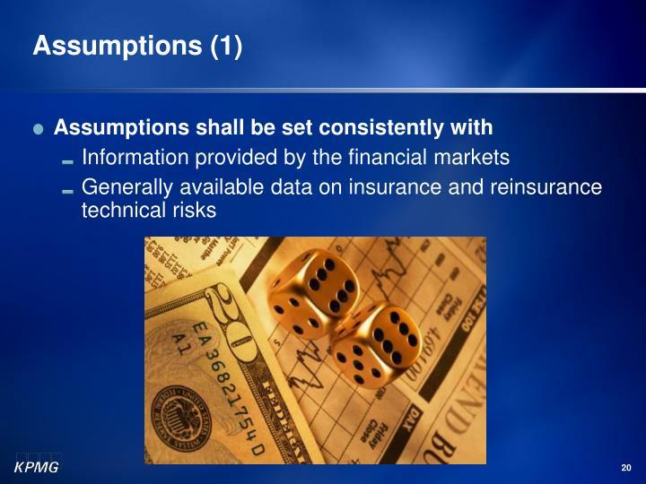 Assumptions (1)