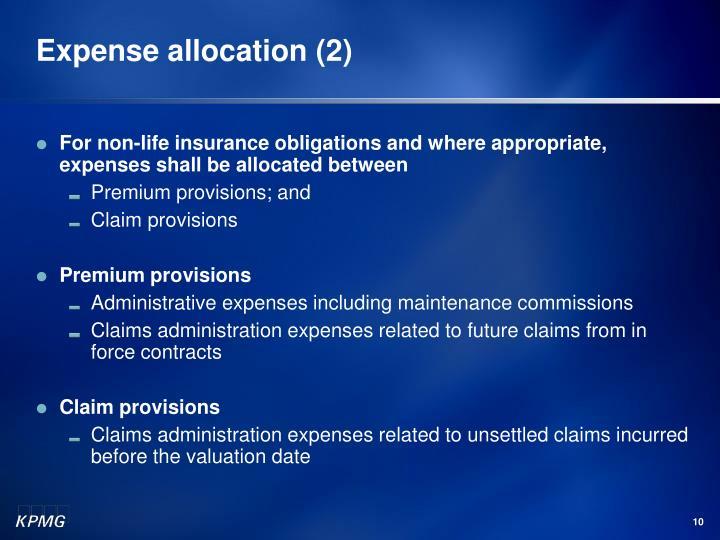 Expense allocation (2)