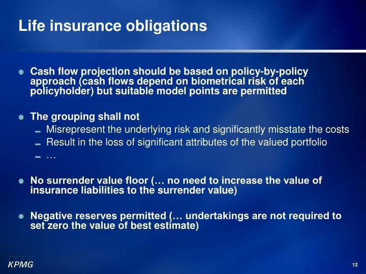 Life insurance obligations