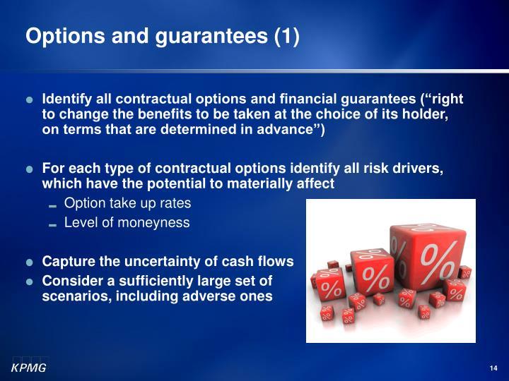 Options and guarantees (1)