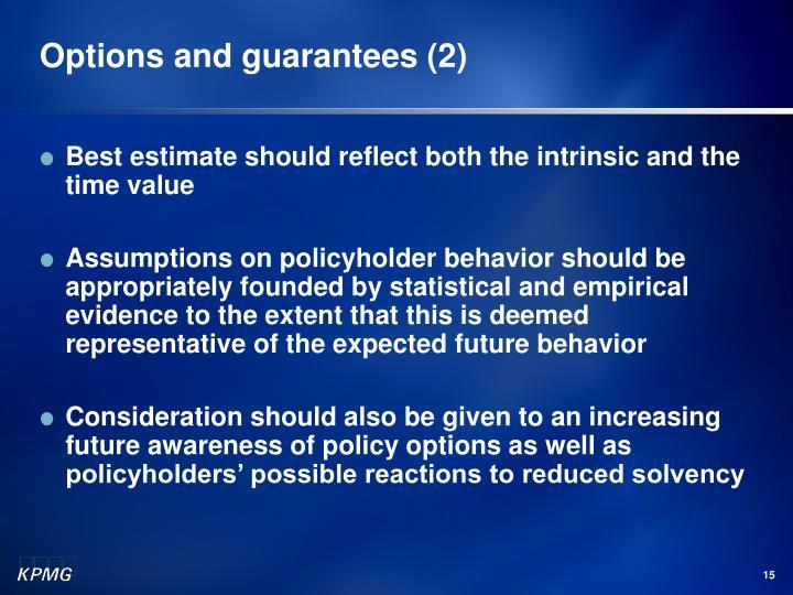 Options and guarantees (2)