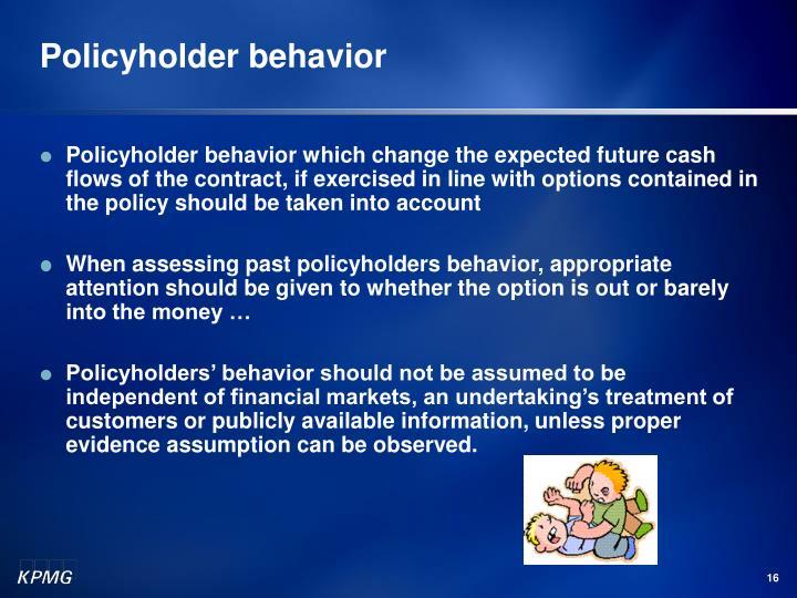 Policyholder behavior