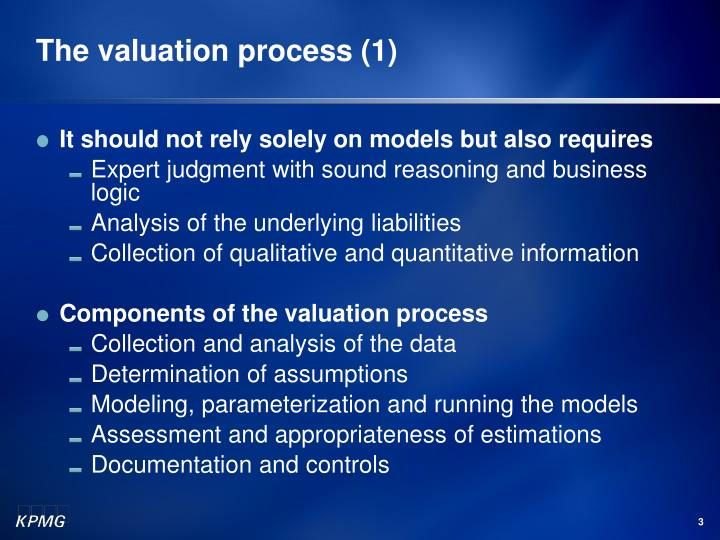The valuation process (1)