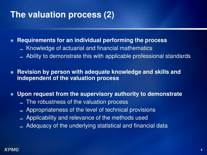 The valuation process (2)