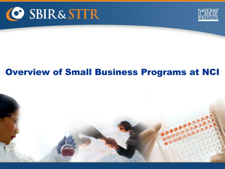 Overview of small business programs at nci