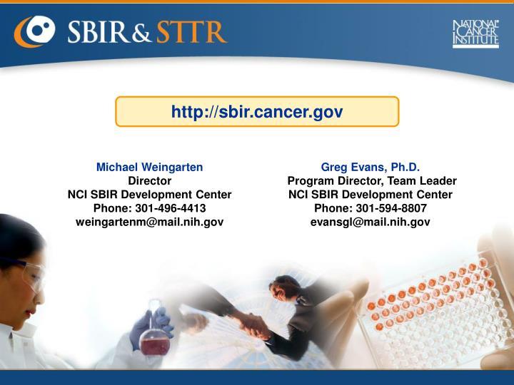 http://sbir.cancer.gov
