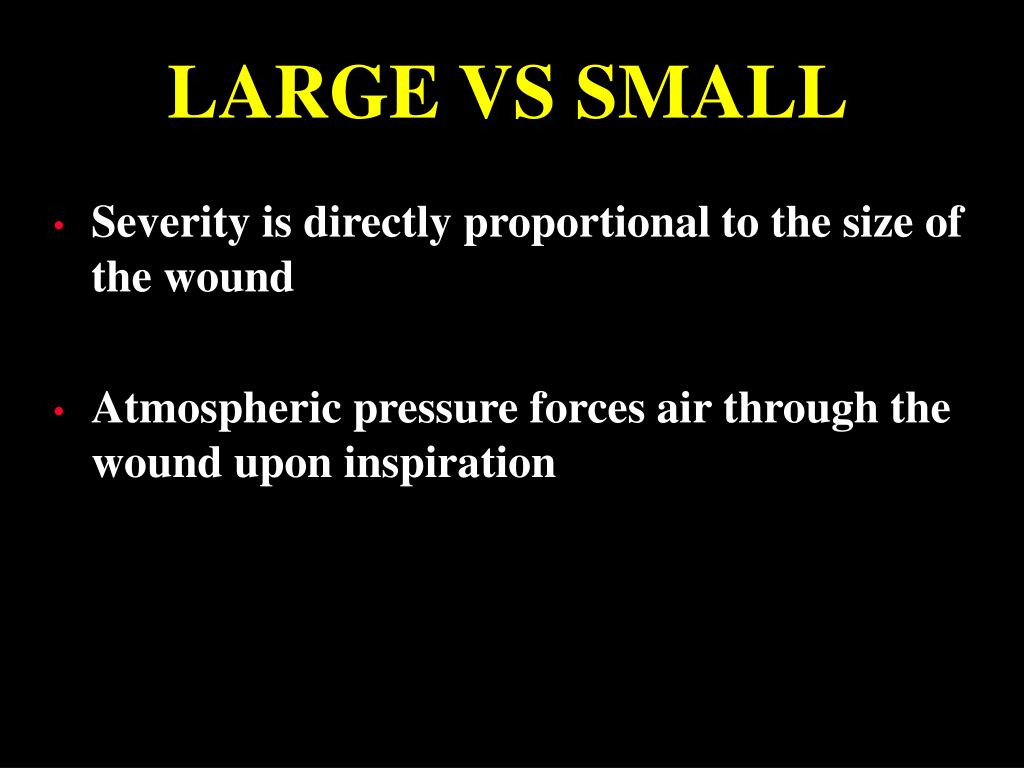 LARGE VS SMALL
