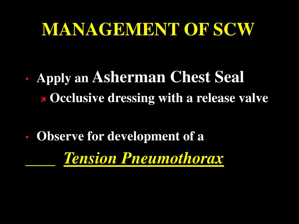 MANAGEMENT OF SCW