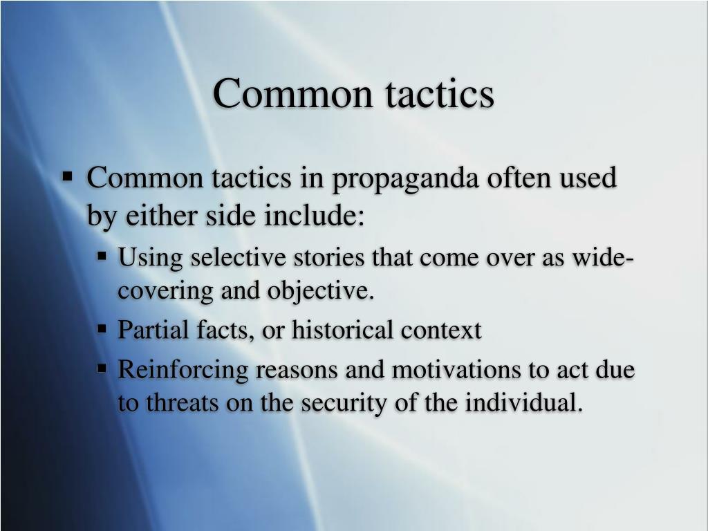 Common tactics