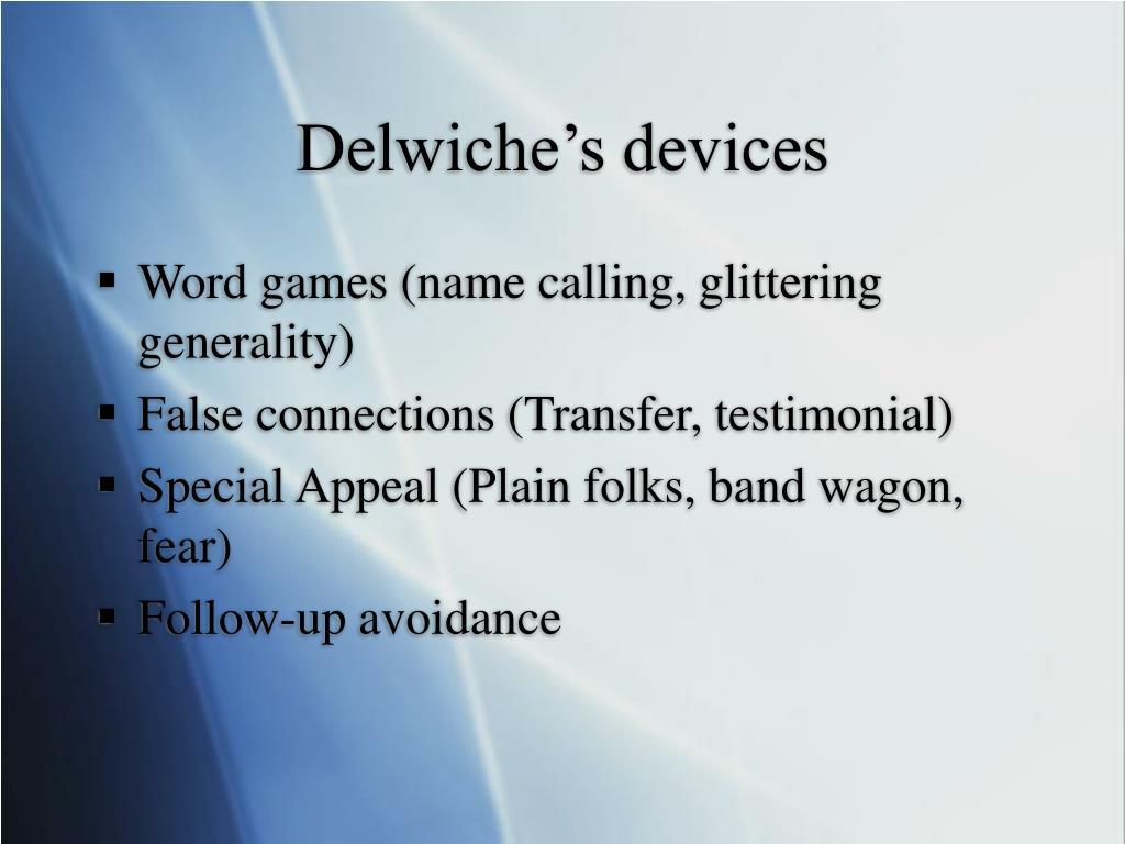 Delwiche's devices