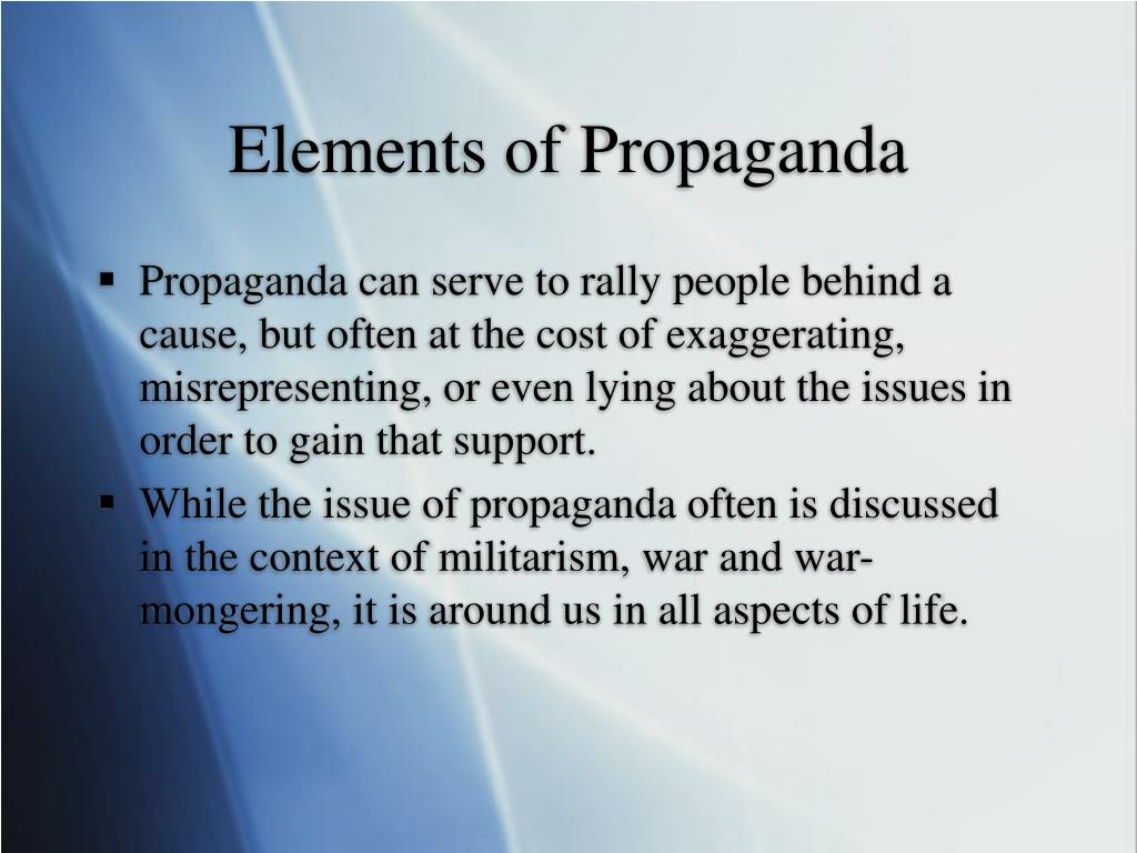 Elements of Propaganda