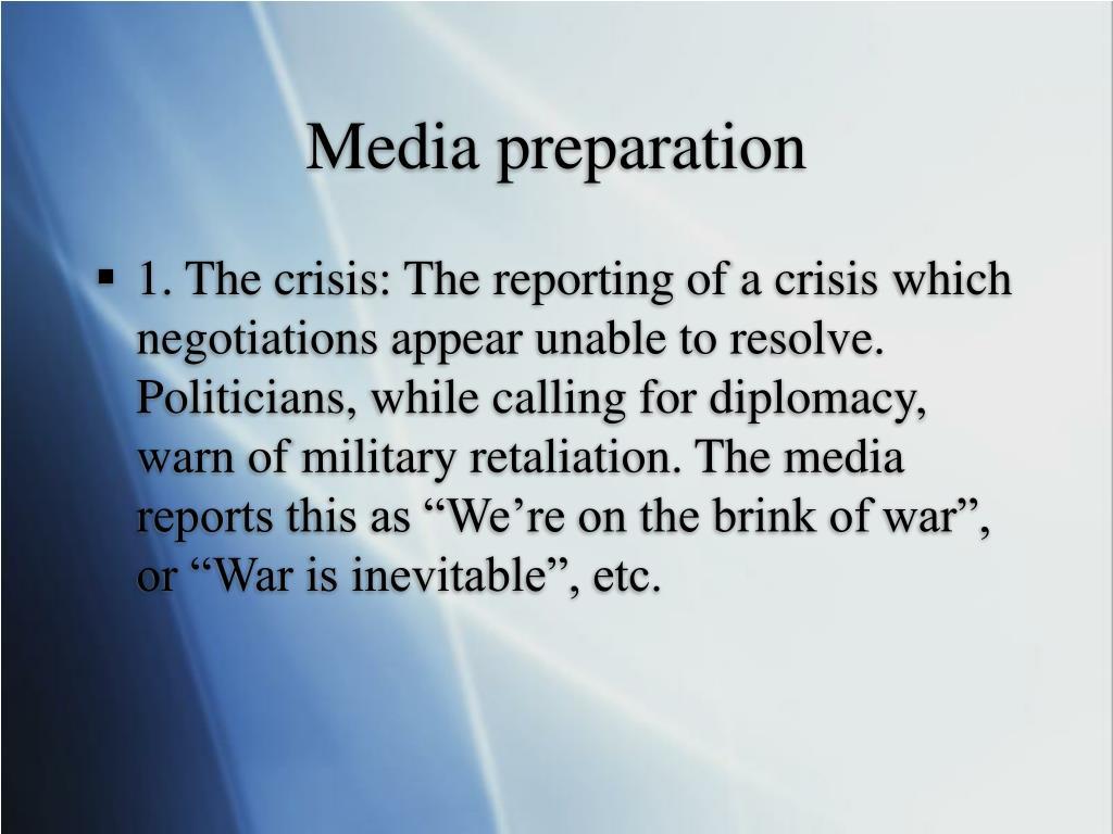 Media preparation