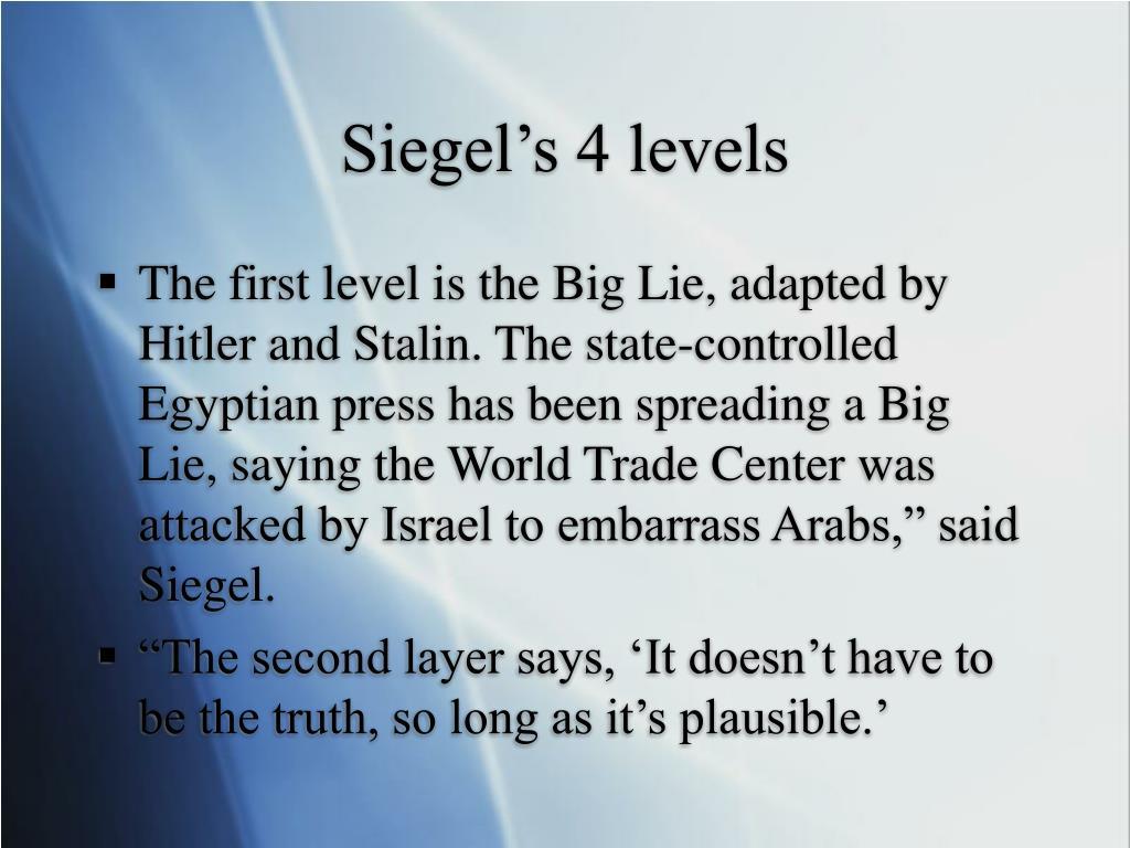 Siegel's 4 levels