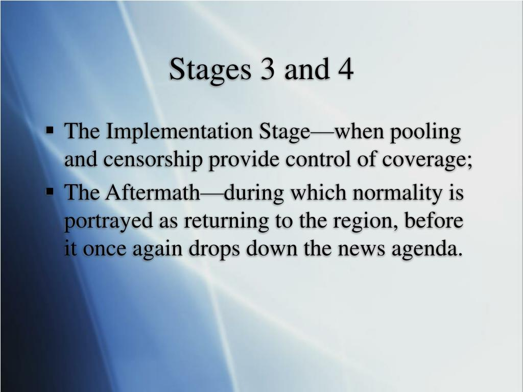 Stages 3 and 4