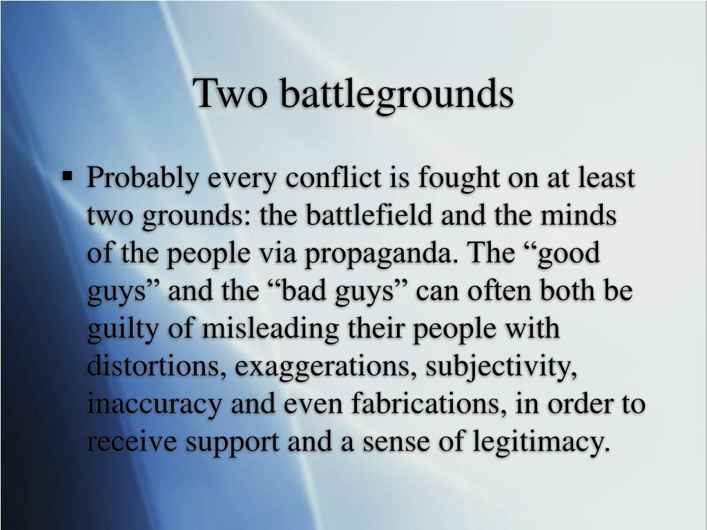 Two battlegrounds