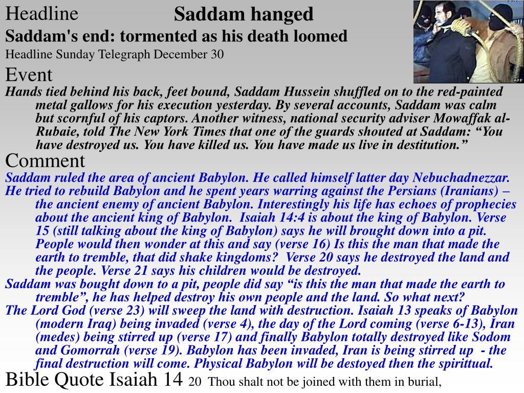 Saddam hanged