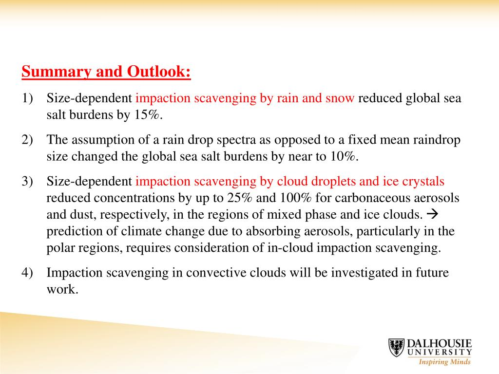 Summary and Outlook: