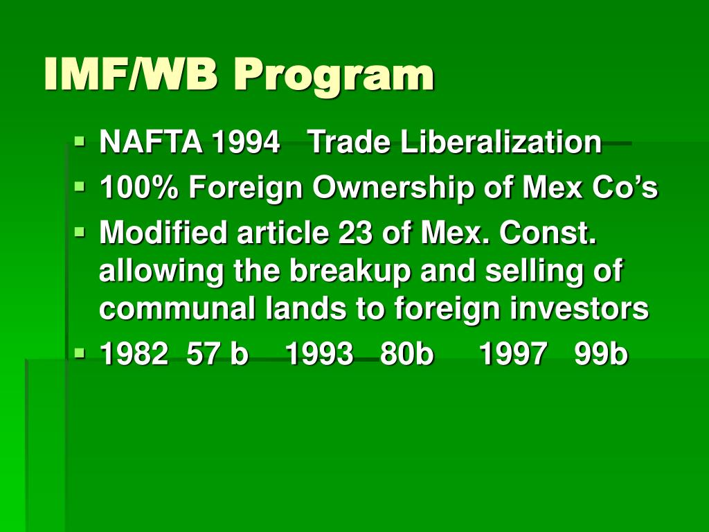 IMF/WB Program