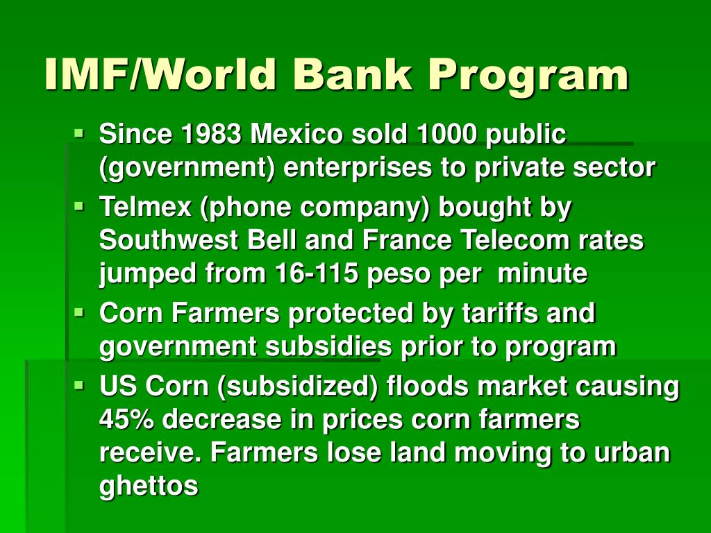 IMF/World Bank Program