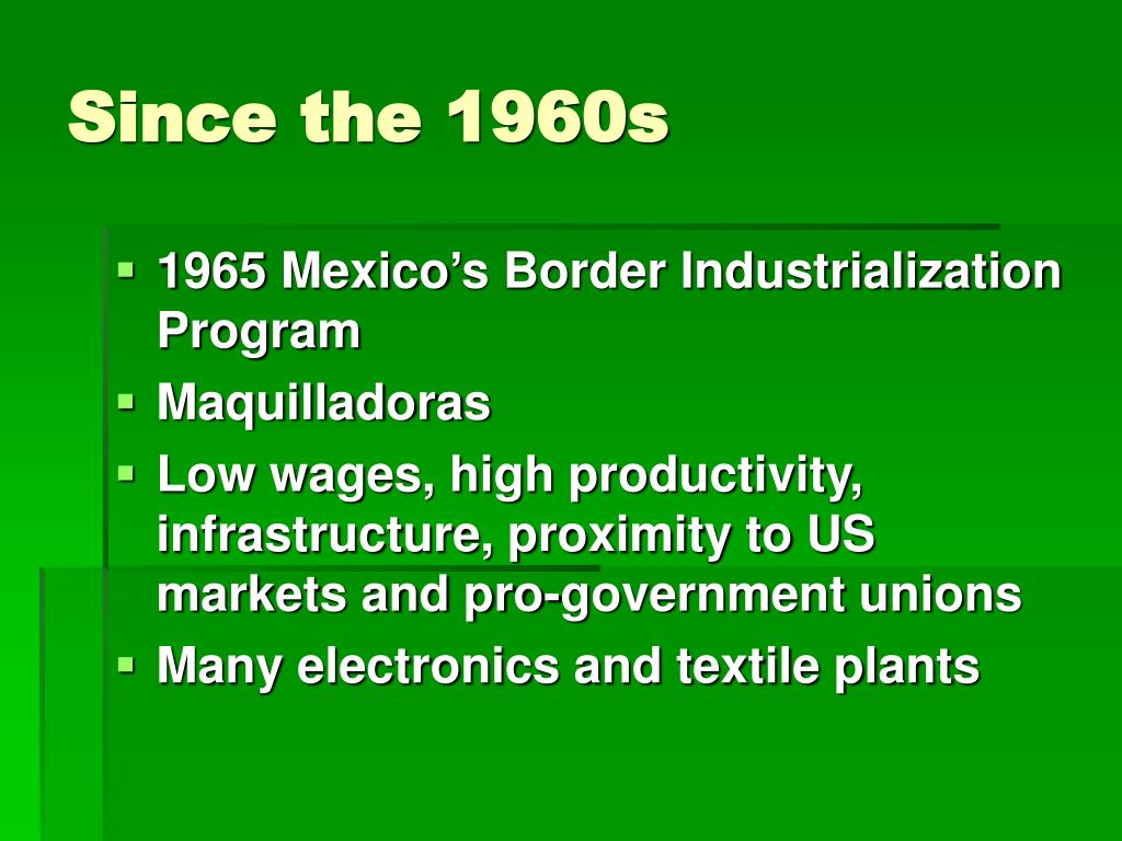 Since the 1960s