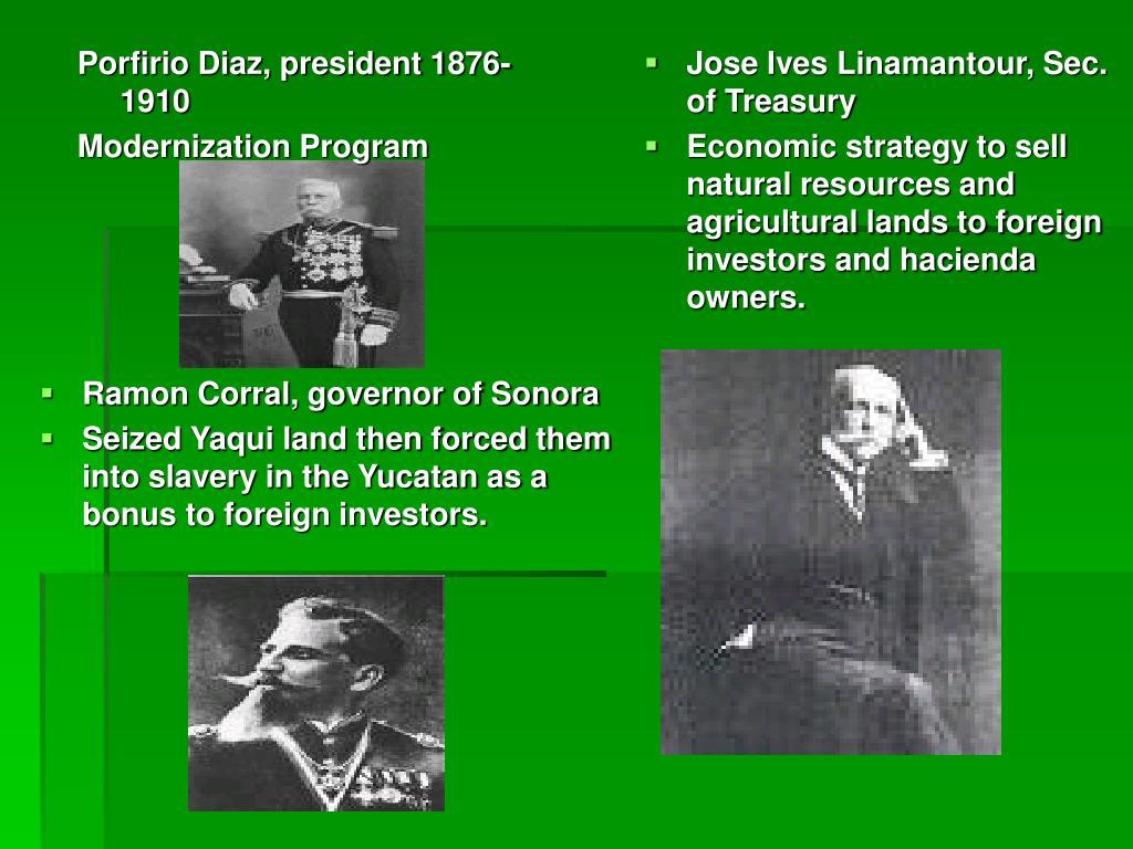 Porfirio Diaz, president 1876-1910