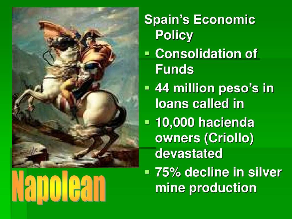 Spain's Economic Policy