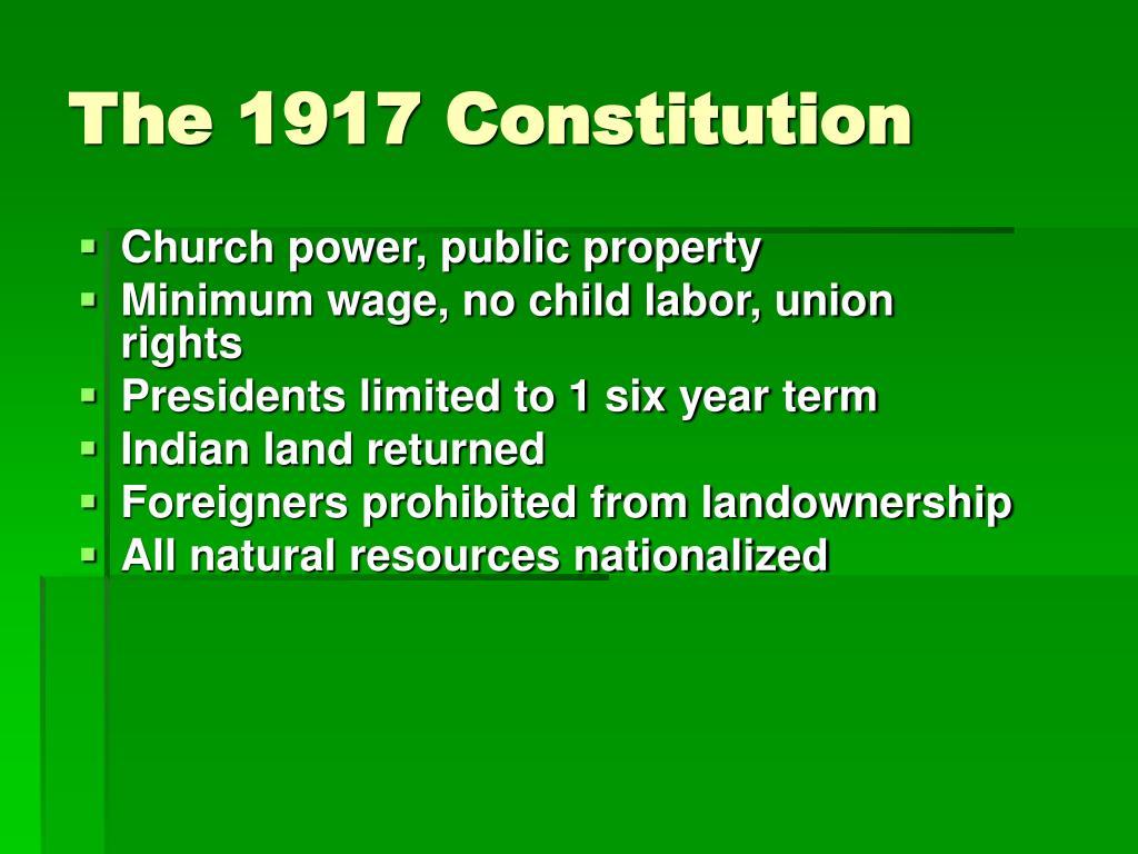 The 1917 Constitution