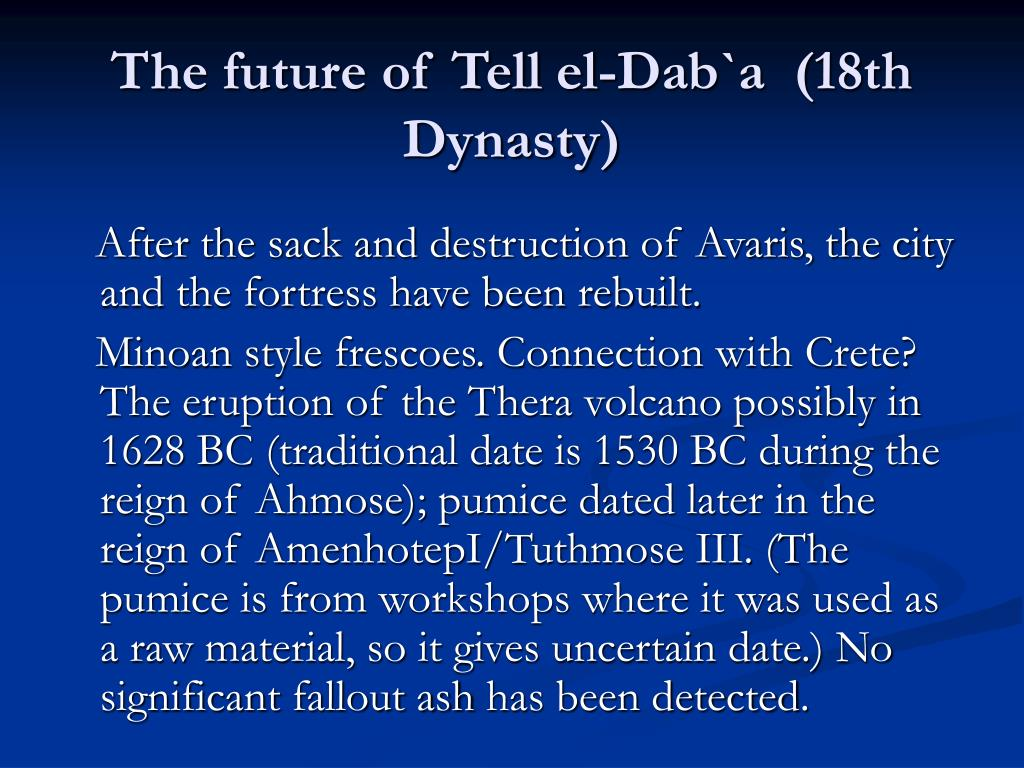 The future of Tell el-Dab