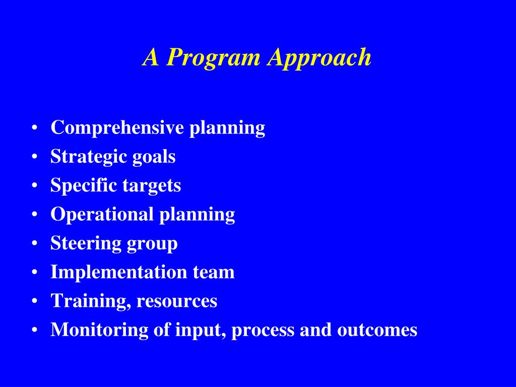 A Program Approach