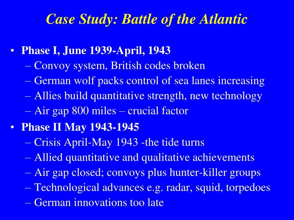Case Study: Battle of the Atlantic