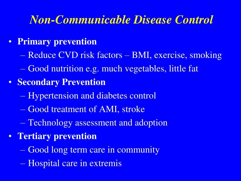 Non-Communicable Disease Control