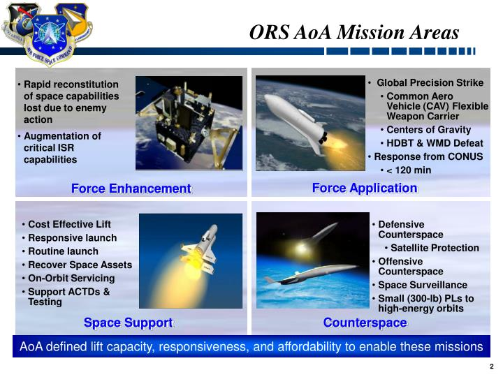 Ors aoa mission areas