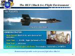 the hlv mach 6 flight environment