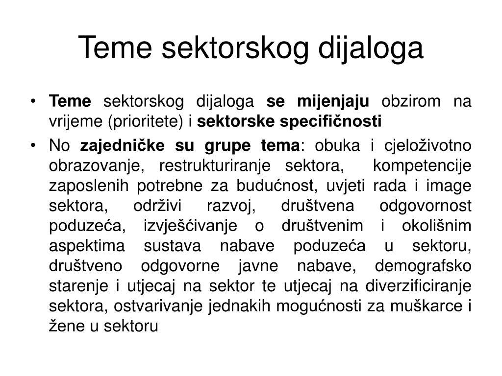 Teme sektorskog dijaloga