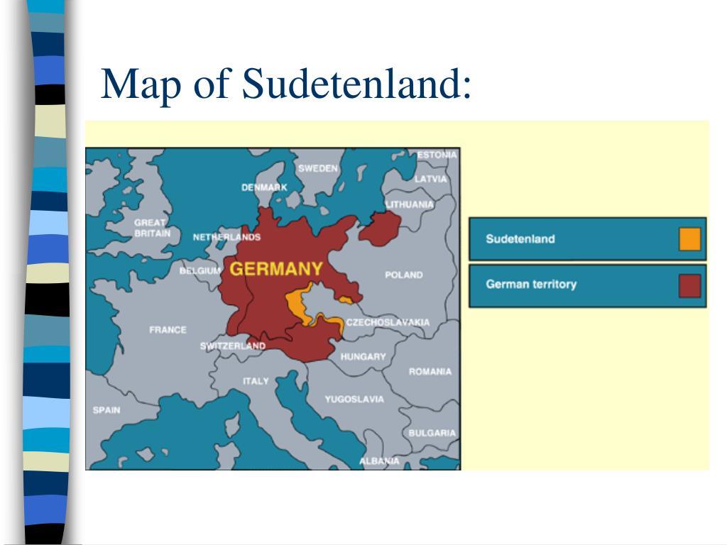 Map of Sudetenland: