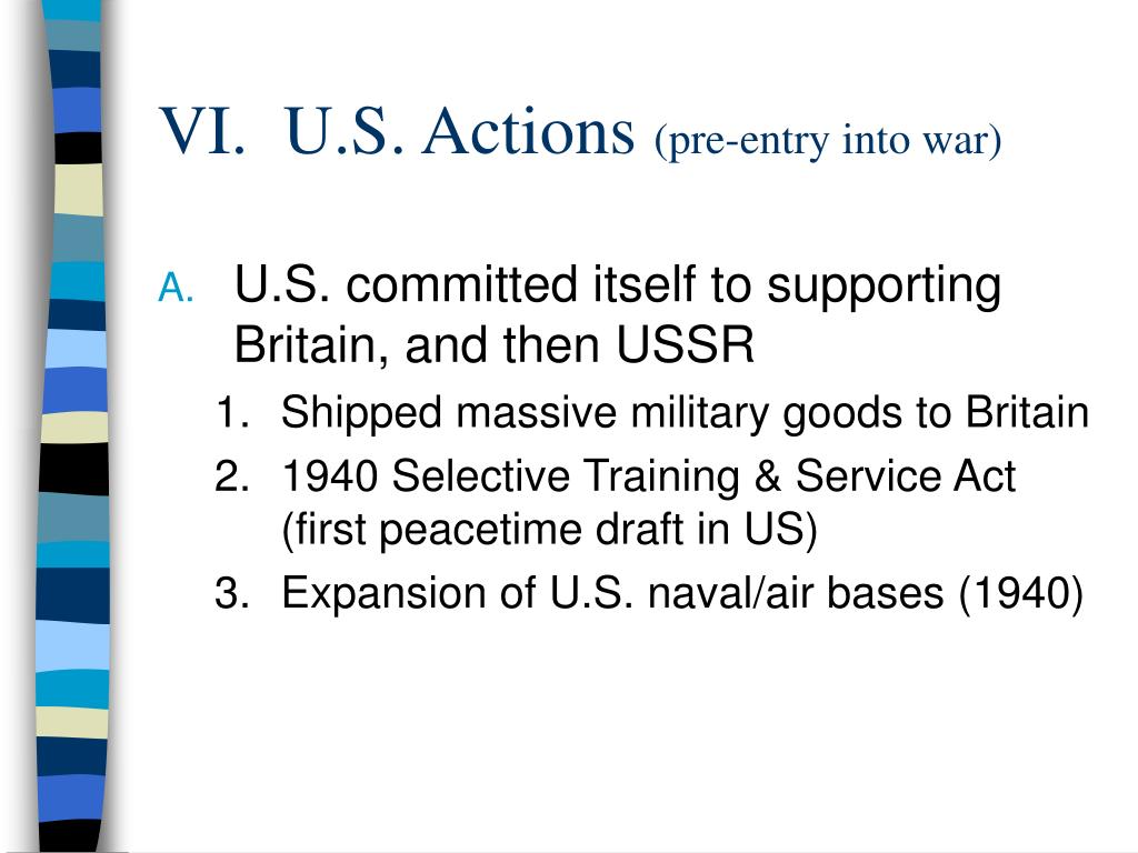VI.  U.S. Actions