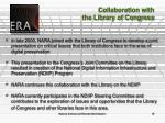 collaboration with the library of congress