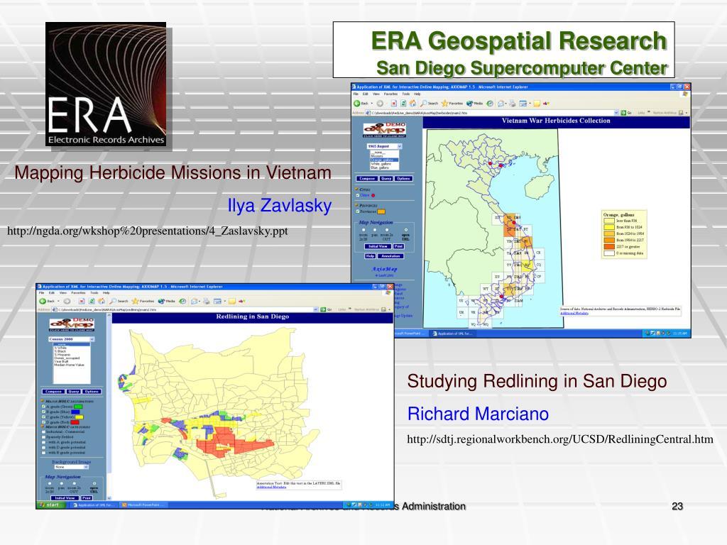 ERA Geospatial Research