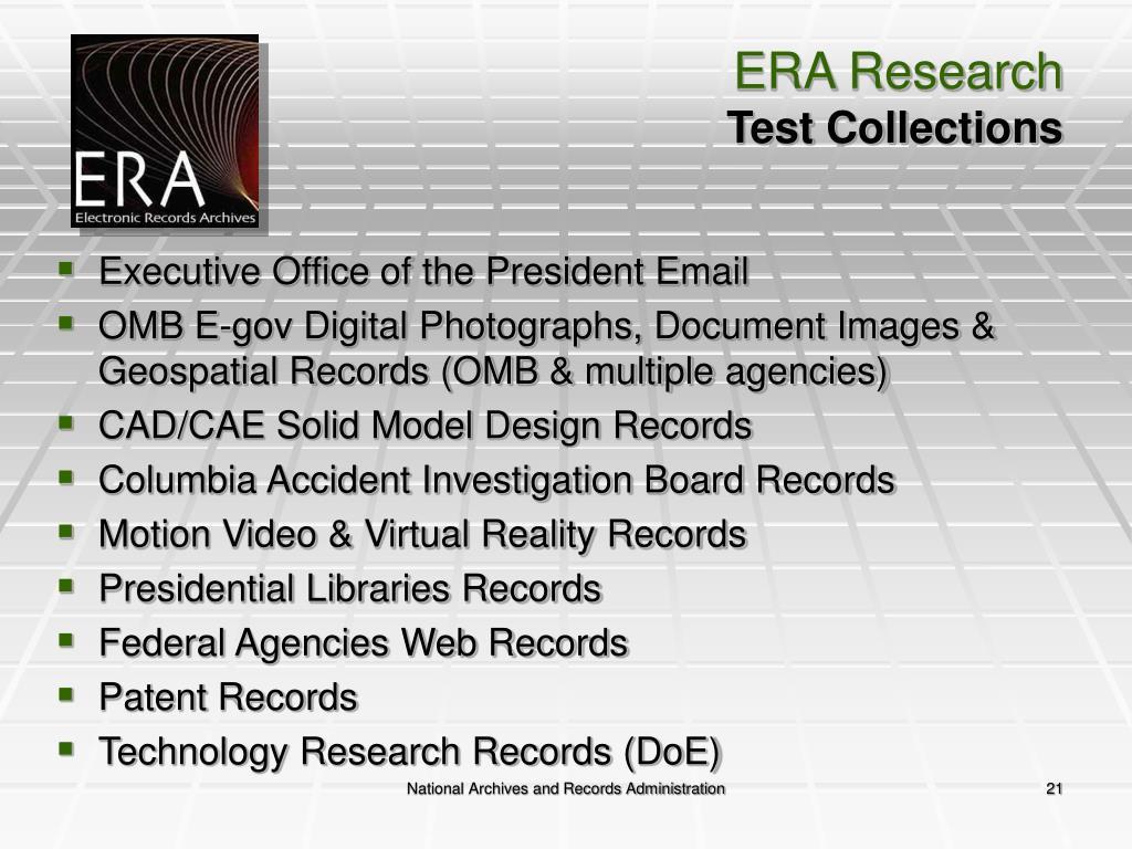 ERA Research