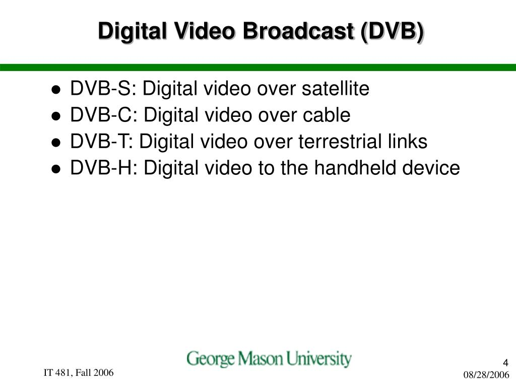 Digital Video Broadcast (DVB)