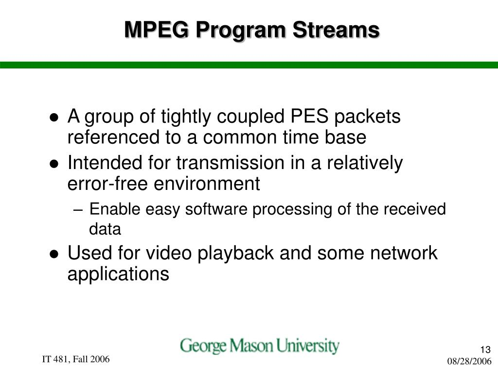 MPEG Program Streams