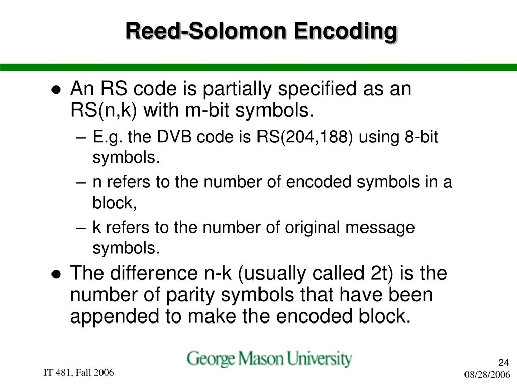 Reed-Solomon Encoding